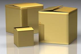 Mit unseren gelben boPET-Folien entsteht mit einer Metallschicht eine glänzend goldene Oberfläche.